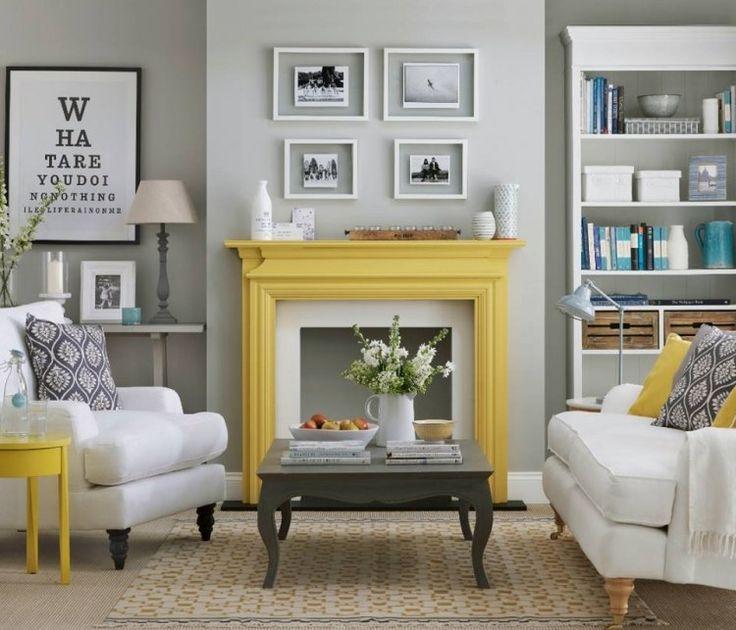 déco salon intégrer le jaune et le gris dans votre espace