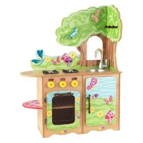 OMG THIS IS THE CUTEST KITCHEN EVER!!! <3 <3Kidkraft Fairies, Fairies Woodland, Kids Stuff, Woodland Theme, Woodland Kitchens, Toys Kitchens, Plays Room, Pretend Plays, Plays Kitchens