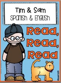 """This is the Spanish version of my Tim and Sam Sentence Shuffle Center. The English version is also included. This packet includes an additional activity with visual supports called """"Just My Size"""". Please download the preview file. Reading level: 0.5  $  #KindergartenReadingLesson #SpanishLesson"""