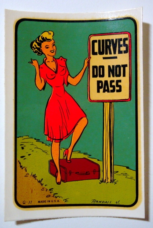 Vtg novelty water decal pin up girl curves burlesque retro hot rod drag race ebay