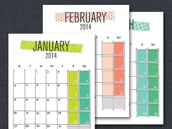 119 best Calendars and Lists images on Pinterest | Calendar ...