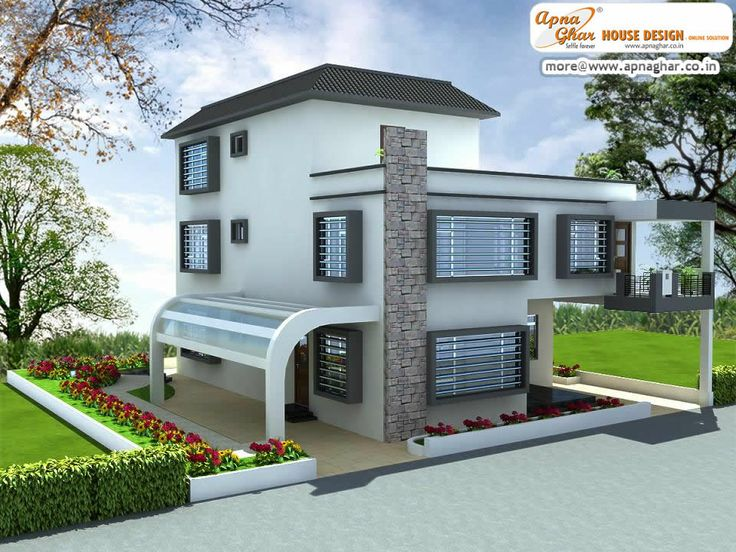4 Bedrooms Modern Duplex 2 Floors Home Area 324m2 18m