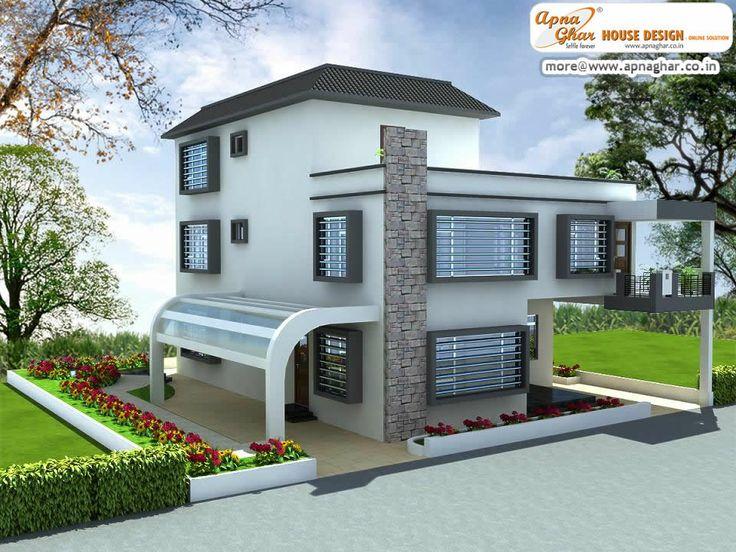4 bedrooms modern duplex 2 floors home area 324m2 18m for Minimalist house design 36 72