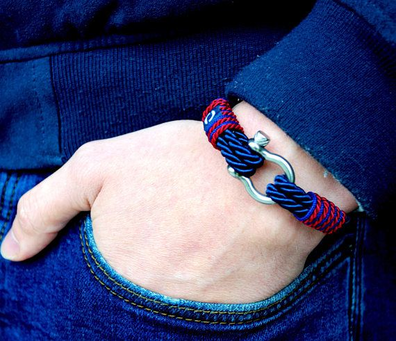 Navy blue bracelet blue bracelet blue mens bracelet twisted