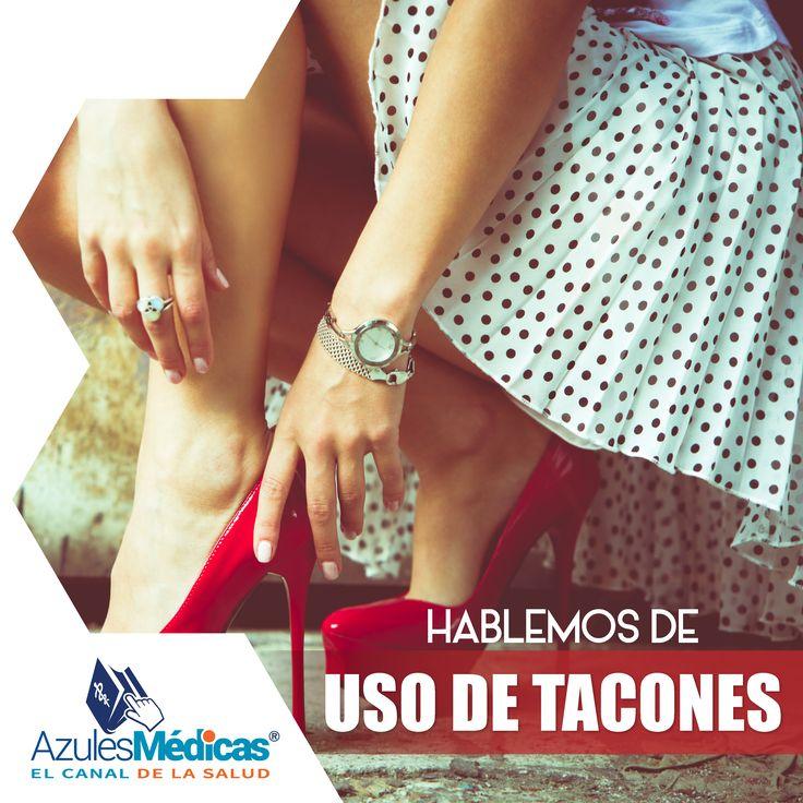 El uso excesivo de tacones en las mujeres causa una alteración en la biomecánica de los pies, pues el apoyo que se hace con este calzado se centra más hacia la punta o delantera de los mismos, cuando normalmente se debe realizar hacia el talón, lo que puede causar acortamiento de algunos músculos, zonas de mayor presión en la planta de los pies, callosidades y dolores. Cuídate #FelizDiaDeLaMujer #Salud #Prevencion #MujerColombiana  http://bit.ly/1QF2fE6