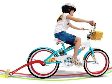 An attachment for your kids bike that will trail sidewalk chalk while they ride!! This is awesome!