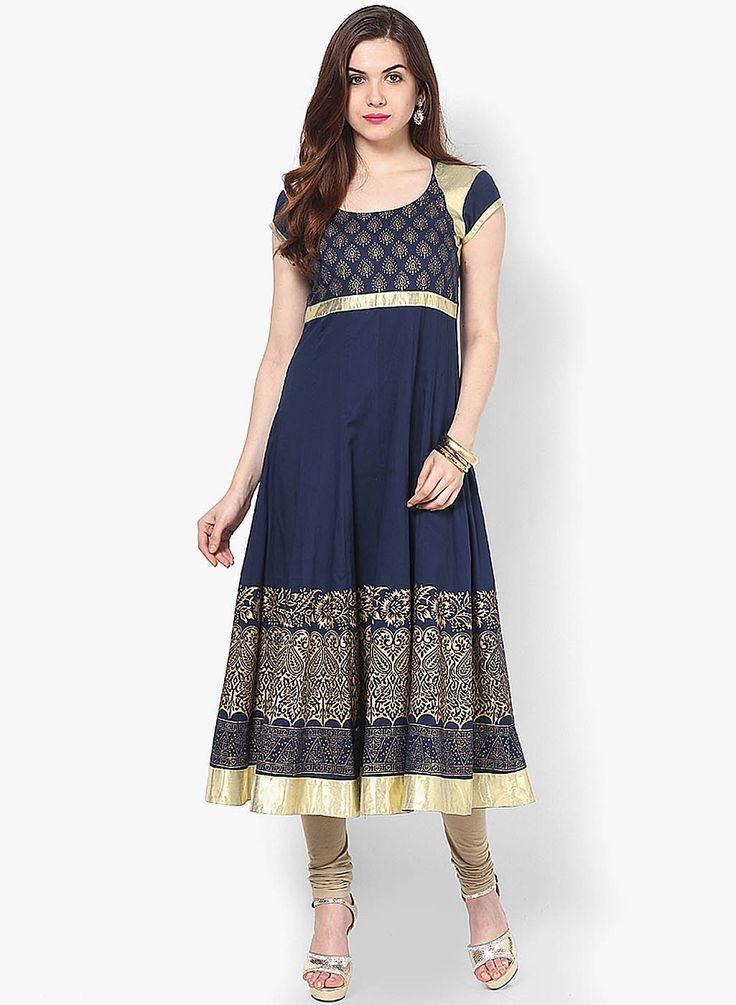 Contemporary classic embellished Kurta for every Indian Ethnic Occasion <3  SHOP HERE---> http://www.jabongworld.com/navy-blue-embellished-kurta-1364927.html