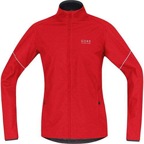 GORE BIKE WEAR Men's Essential Windstopper Active Shell Partial Jacket, Red/Black, Large. Zip with semi-lock slider. Zip-underflap. 2 front zip pockets. Multifunctional WINDSTOPPER® Active Shell jacket with two zipped front pockets for all-year wear. Keeps runners warm but not too warm, thanks to the long cut and underarm ventilation.