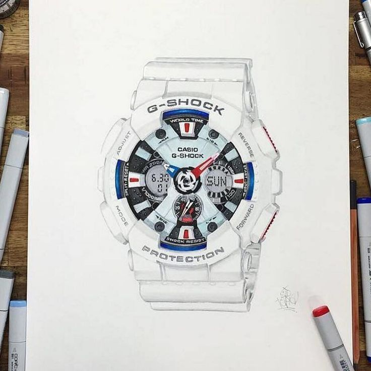 Check out this illustration of the GA120TR-7A from the G-Shock Tri-Colour Series by the ultra talented @sidtapia #gshock #streetart by gshockoz