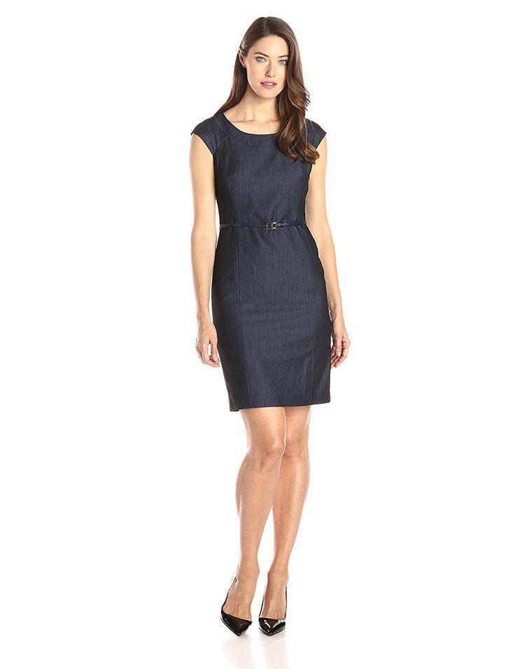 Dress for Women, Evening Cocktail Party On Sale, Denim, Cotton, 2017, 12 Tommy Hilfiger