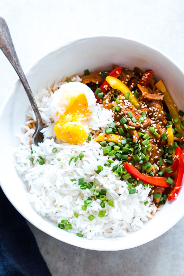Easy Slow Cooker Korean Pork Bulgogi recipe that can be made in a crockpot and has gochujang. Healthy, yummy stew that's perfect over rice for dinner!