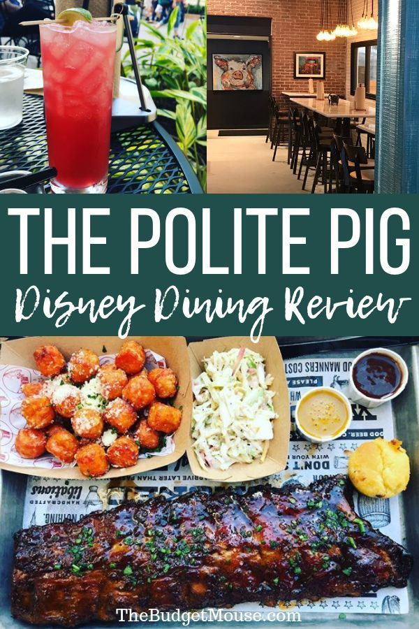 Get The Scoop On The Polite Pig In Disney Springs This New Restaurant Is One Of The Best Uses Of A Disney Springs Restaurants Disney World Food Disney Springs