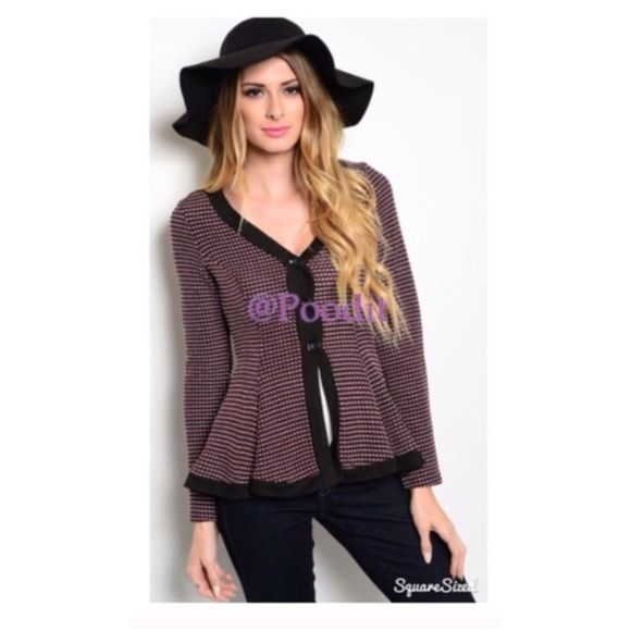 """TEN super cute peplum sweater Sz small Adorable peplum sweater  Size small bust 32-34 Waist 26-28 Sleeve length shoulder seam down 22"""" Length shoulder seam down 25""""  NWOT   80% polyester 15% rayon 5% spandex  ❤️BUNDLE DISCOUNTS DO NOT APPLY TO SALE ITEMS❤️ Sweaters Cardigans"""