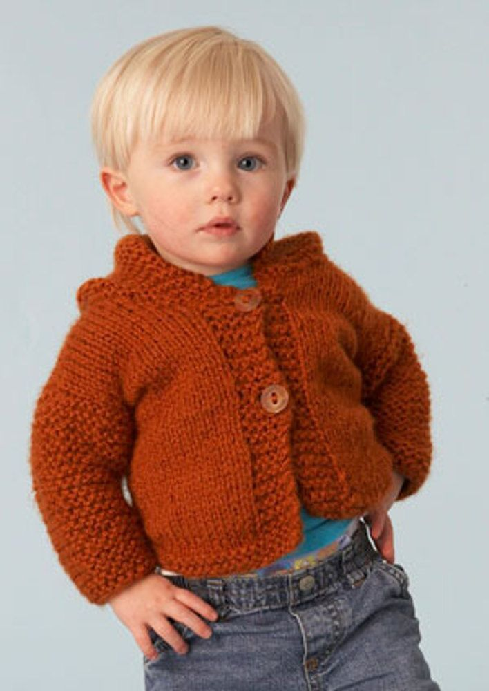 Simple Hooded Cardigan in Lion Brand Jiffy - 70038 Free | Projects ...