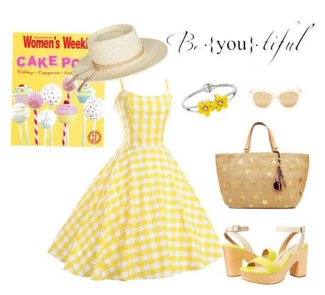 """""""Summer Yellow"""" by lorainejh on Polyvore featuring Chinese Laundry, Joie, Star Mela and Le Specs"""