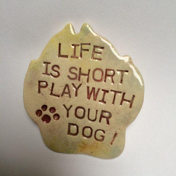 Ceramic Magnet for dog lovers fridge magnet stoneware magnet
