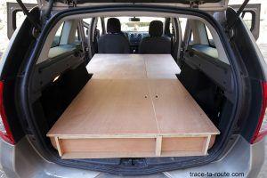 Bricolage : structure coffre aménagement break Dacia Logan MCV pour dormir dedans - Road Trip