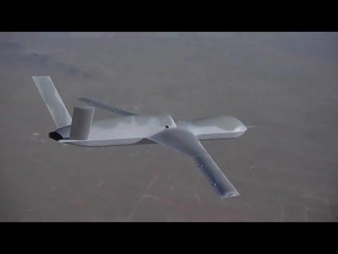 I'm considering getting a couple of these to escort me during my daily commute: General Atomics Aeronautical - Predator C Avenger UAS Combat Simulation [480p]