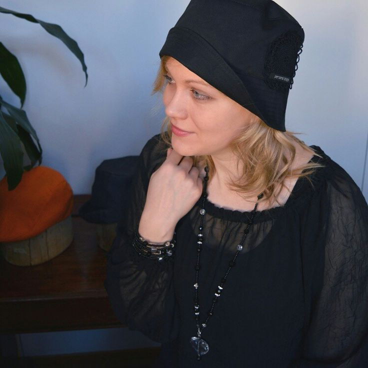 Hats for everyday life! Model Krystanteemi, material cotton, handmade laceflower on the left side with woven PDHat brandsign on the bottom of it. #kesä_2015 www.personaldesignhat.fi