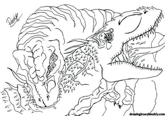T Rex Coloring Page In 2020 Tyrannosaurus Rex Rex