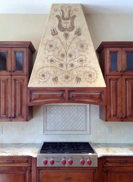 Modello® Designs masking stencils helped Surface Refinements, Inc. customize a Hungarian folk design special to their clients.