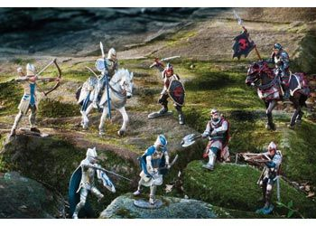 Schleich Knights. This exciting kit includes a selection of 8 hand painted Schleich Knights.