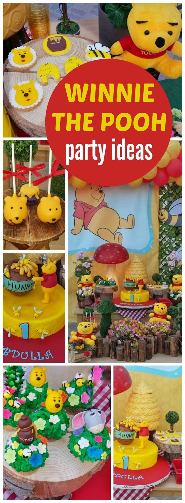 What a fun Winnie the Pooh themed birthday party! See more party ideas at http://CatchMyParty.com!