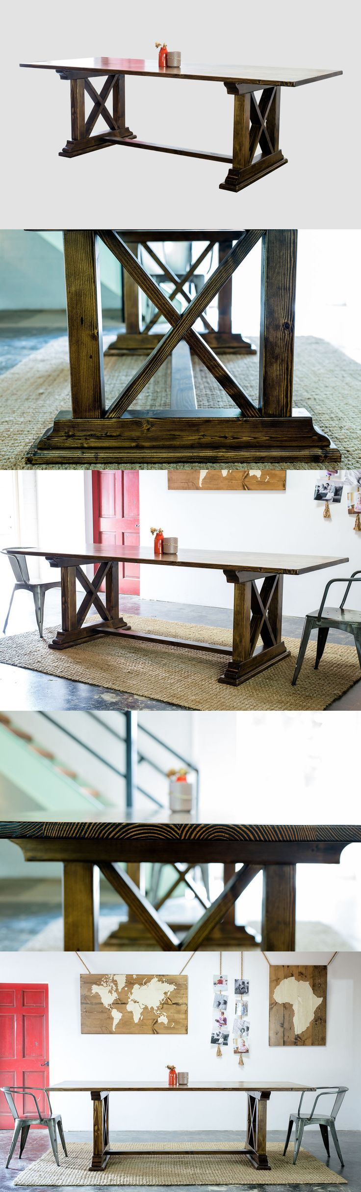 A beautifully handcrafted top supported by a classic trestle base, our Holton Table is a lovely gathering place for friends and family.