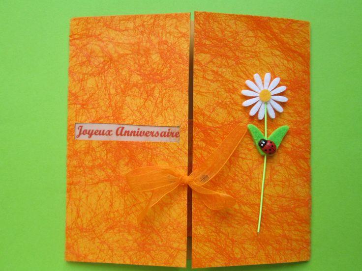 Carte Joyeux Anniversaire 100% fait main : Cartes par les-petits-papiers-de-marie