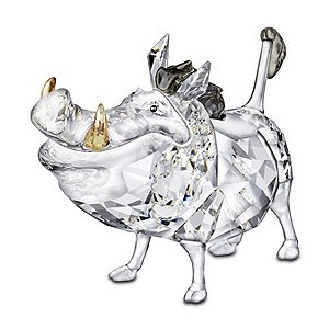 Pumbaa the adorable warthog is depicted in sparkling clear crystal, while his…