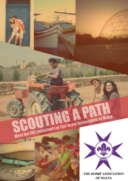 Front cover Scouting a path project's info booklet. November 2014.