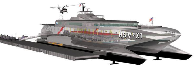 austal high speed catamaran transport hsvx1 cutaway