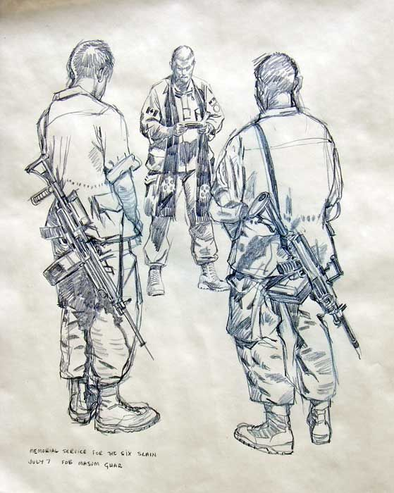 Армейские рисунки карандашом