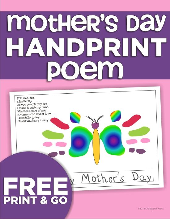 ... mothers day ideas mothers s fathers mother s day handprint poems