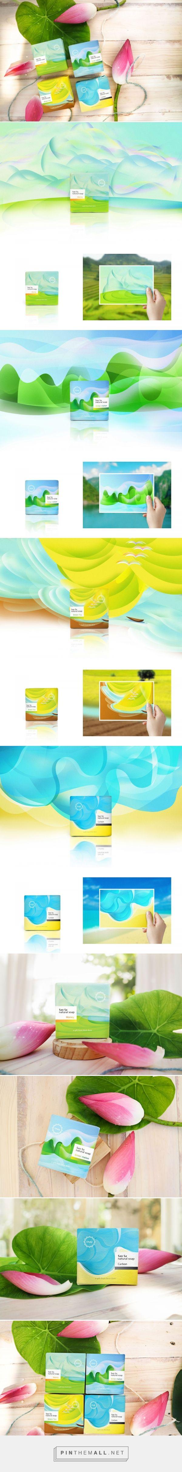 Sao Sa Natural Soap packaging design by Ken Duong - http://www.packagingoftheworld.com/2017/08/sao-sa-natural-soap.html