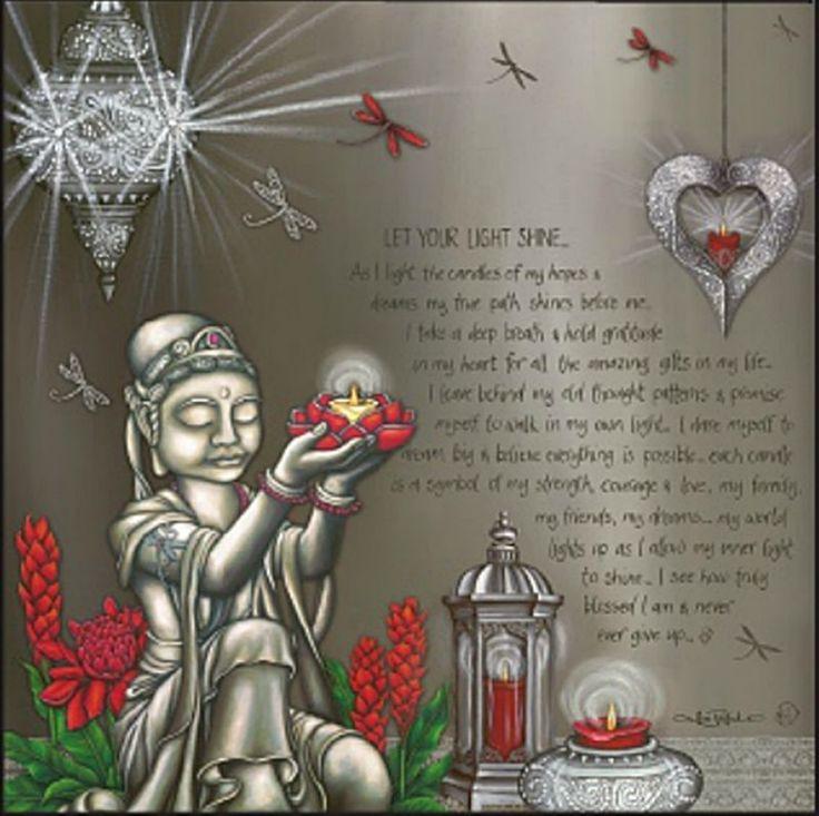 Let Your Light Shine -Lisa Pollock 80cm Positive affirmation Canvas Light up LED