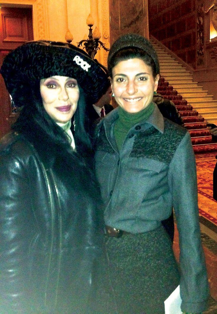 Cher and Giovanna Battaglia