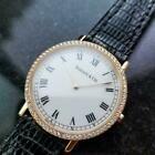 TIFFANY & CO Men's 18k Gold Diamond Dress Watch c.2000s Swiss Luxury LV814 #Watc…