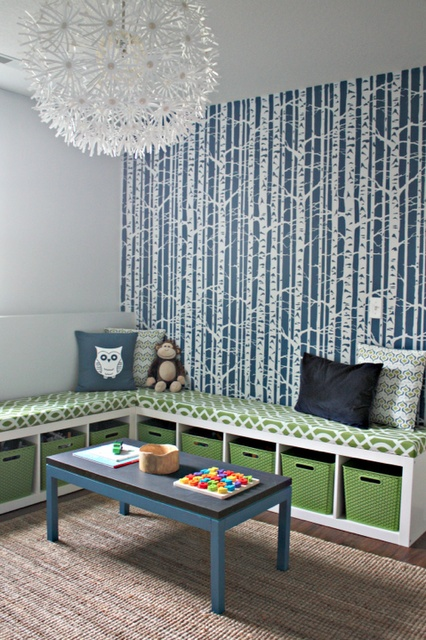 gathering ideas...  Like the wallpaper. Graphic and fun, but not too childish