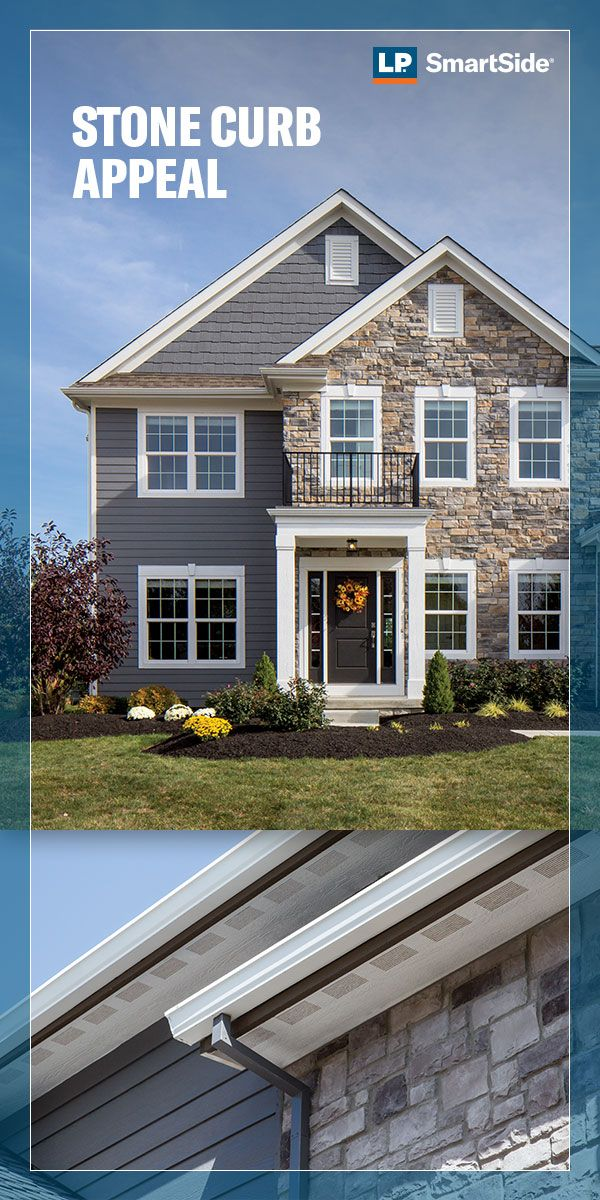 Stone Curb Appeal House Exterior Blue Stone Exterior Houses Exterior Paint Colors For House