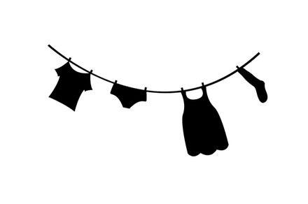 corde à linge forme flex thermocollant customisation vêtement tissu pas si godiche ! : Autres pièces pour créations par passigodiche