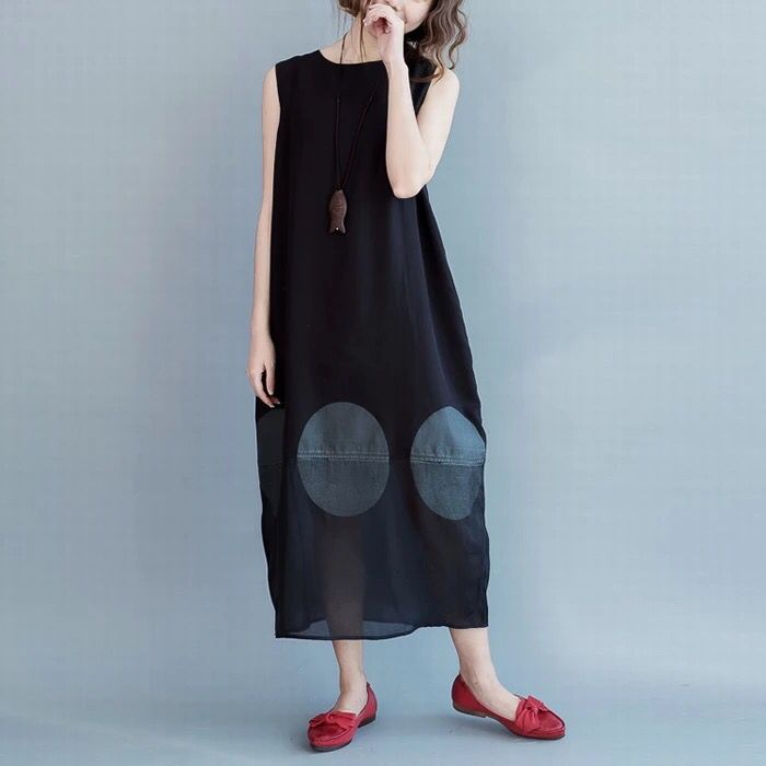 Black sleeveless dresses summer outfit 6.23 new arrivals free shipping