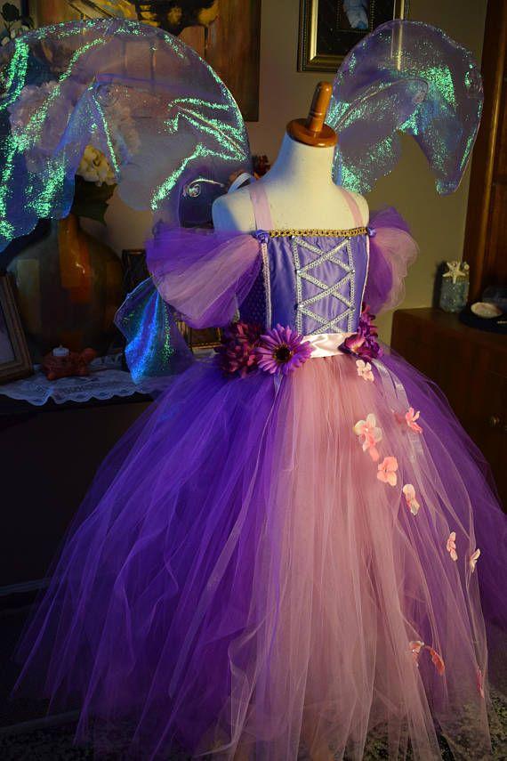 Cosplay costume fata viola primavera fiore fata vestire