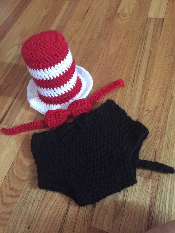 Hey, I found this really awesome Etsy listing at https://www.etsy.com/listing/247946799/dr-suess-crochet-baby-outfit