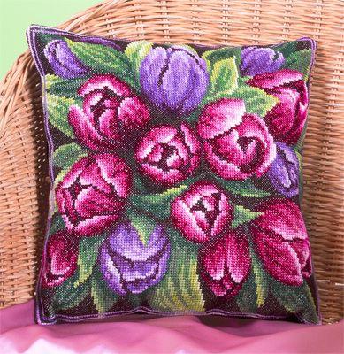 Набор для вышивания Panna ПД-1548 Подушка с тюльпанами