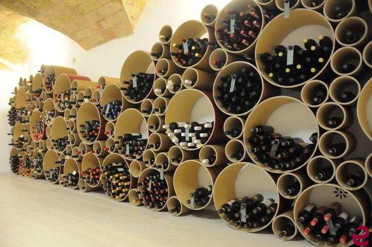 Arredamento per enoteca con il portabottiglie di for Arredamento wine bar