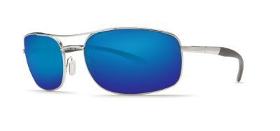 Costa Del Mar Sunglasses - Seven Mile- Glass / Frame: Satin Palladium Lens: Polarized Blue Mirror Wave 580 Glass. Frame Material: Metal. Lens Material: Glass. Lens Width: 60mm. Bridge: 18mm. Arm: 135mm.