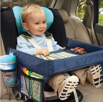 Children Toddlers Car Safety Belt Travel Play Tray waterproof Table Baby Car Seat Cover Harness Buggy Pushchair Snack TV Laptray