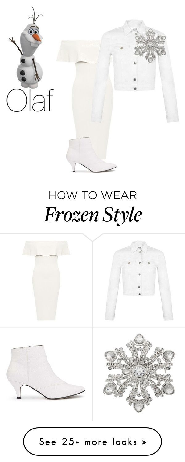 """Olaf"" by michdrpenguin on Polyvore featuring Disney, WearAll, Miss Selfridge and Dana Buchman"