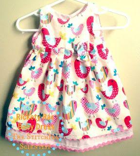 The Stitching Scientist: Tutorials - Rickety Rac Baby Dress with Free Pattern